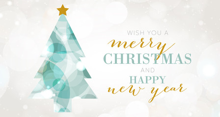 Christmas Tree, Merry Christmas and Happy New Year Background