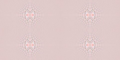 Abstract fractal high resolution seamless pattern background ideal for carpets, tapestries, fabric and wallpapers with a detailed abstract ornamental star like crystal in light pastel colors