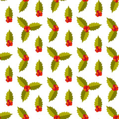 Christmas seamless pattern with doodle toys. Vector illustration.