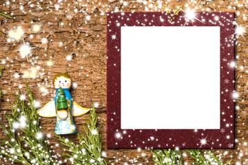 Christmas Angel card.Photo frame.