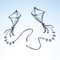 Kite. Vector drawing