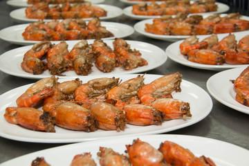 fried Shrimp  with olive oil