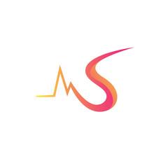 N Surat Multiply Colorful Bayangan Logo