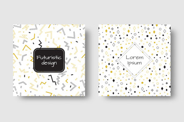 Funky pattern. Vintage background vector. Set for cover, flyers, invitation, greeting, promotional offers, banners, brochures, booklets.