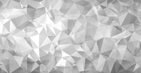 Gray triangular abstract background. Trendy vector illustration.