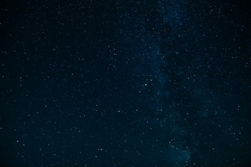 The sky with stars and Milky Way