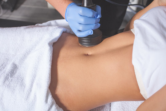 woman body treatment at medical center