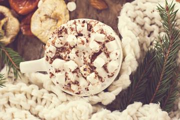 Coffee, Christmas still life.