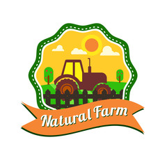 Natural food production logotype