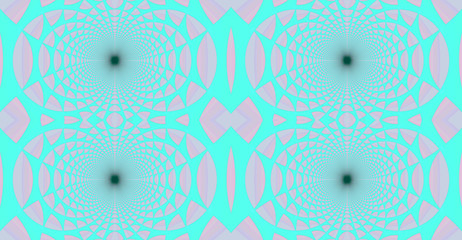 Abstract fractal high resolution seamless pattern background ideal for carpets, tapestries, fabric and wallpapers with a detailed repeating geometric flower like   pattern in light pastel colors
