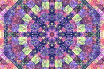 Mosaic abstract background with concentric pattern