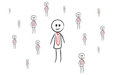 Person mit Krawatte