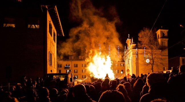 festa religiosa con falò dedicato a san Francesco - Varese