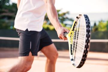 Man playing in tennis