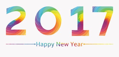 2017 new years background multicolored spiral