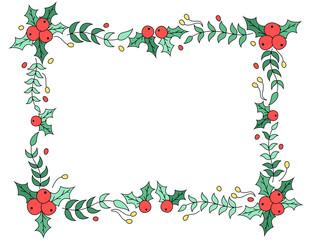 Christmas floral frame design
