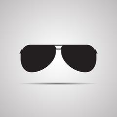 Векторная иллюстрация иконка простой символ плоский для веб силуэт шаблон glasses очки солнцезащитные