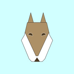 Vector illustration of animals on stylish background wolf icon