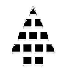christmas three-dimensional shape from blank photo