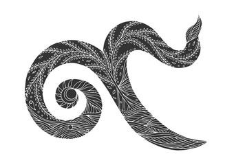9 thai number symbol hand drawn vector design illustration