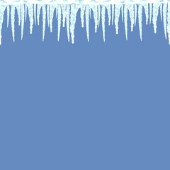 Icicles seamless pattern