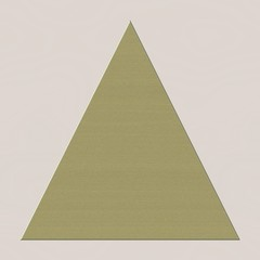 Simple gold beige triangle pyramid shape, symbol of imbalance or balance of world. Poor and rich, illuminati and others.