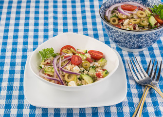 Quinoa mediterranean salad.