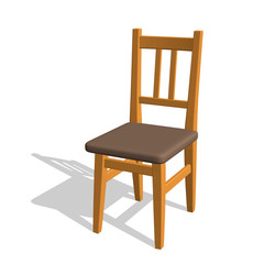 Chair.Isolated on white. 3d Vector illustration.