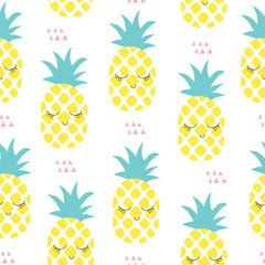 seamless pineapple pattern vector illustration