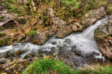 water stream and rocks