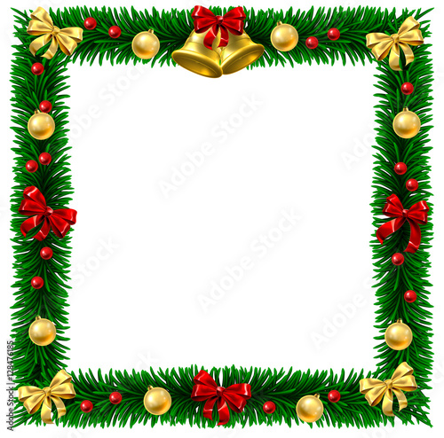 Quot Christmas Wreath Border Frame Quot Stock Image And Royalty