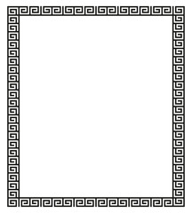 et of meander borders. Ancient seamless square Greek key frames.