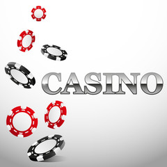 Falling casino chips background, vector illustration, poker, gambling,
