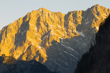 Watzman, the second highest mountain of Germany
