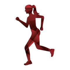 athlete running isolated icon vector illustration design