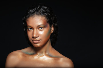 Naked african woman