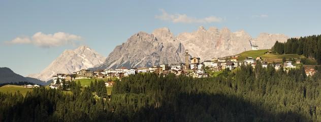 Danta village and dolomites, Comelico Superiore, Italy