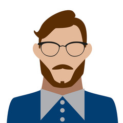 bearded man with glasses icon avatar