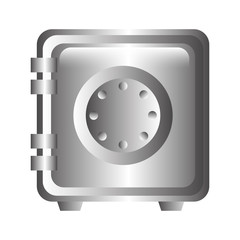 box heavy safe isolated icon vector illustration design