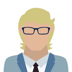 man with glasses icon avatar