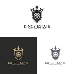 Kings Estate. Lion logo
