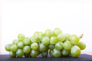 green grapes with white background