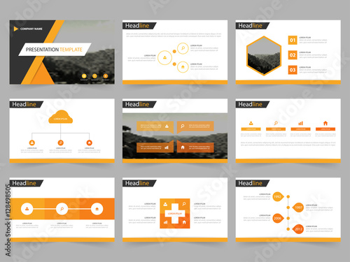 Infographic Ideas infographic proposal template : Orange Black Abstract presentation templates, Infographic elements ...