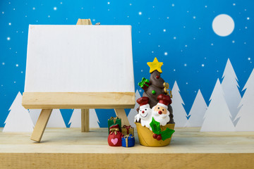 Photo frame and Children toys for christmas decoration.