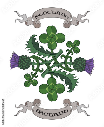 Thistle And Clover The Symbols Of Ireland And Scotland Twisted