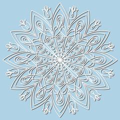 Decorative element mandala, snowflake.