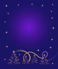 Decorative Christmas design with message space