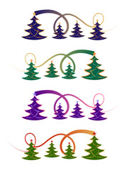 Festive Christmas design in four colour styles