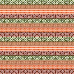 Ethnic motif. Striped african seamless pattern, ethnic tribal motifs, zigzag lines. Tribal seamless pattern