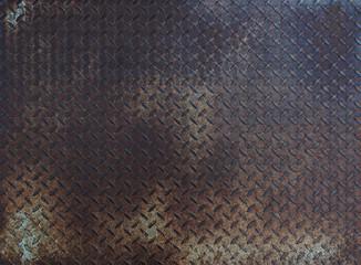 Diamond rusty steel plate - grunge texture